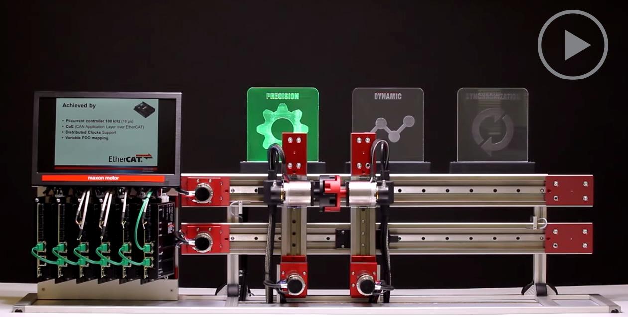 micro brushless motor ethercat sincronizacion