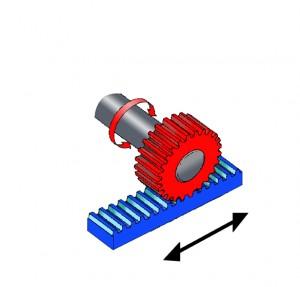 Cremallera motor brushless